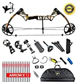 "XQMART XGeek Compound Bow Package,M1,19""-30"" Draw Length,19-70Lbs Draw Weight,320fps (Black2) (black1) (black) (Forest)"