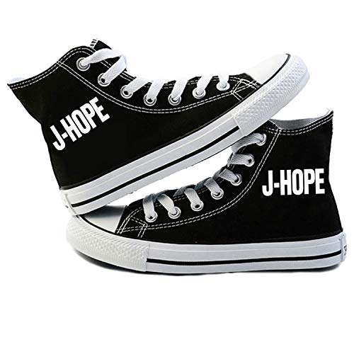 Léger Pour Hautes Hommes Black02 Bts Toile Imprimées Simple Femmes Confortable Chaussures Classique Unisexe Et Baskets z4vqUfv