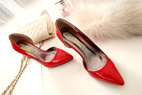 Heel Separate Office Sexyher Fashion 8 In Hight Pumps 2 Shoes Red Women's Of wZwWUAxqCX