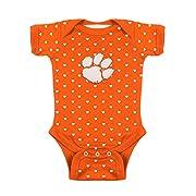 Clemson Tigers NCAA College Newborn Infant Baby Heart Creeper (0-3 Months)