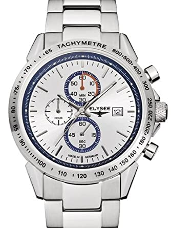 Amazon.com: Elysee Arrow Chronograph with Stopwach, 12 Hour ...