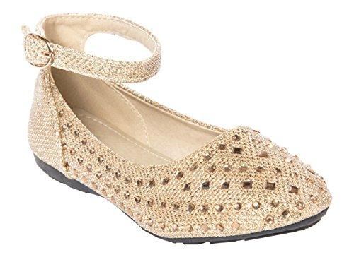 OLIVIA K Girl's Sparkly Ballet Rhinestone Flats (Toddler/ Little Girl)