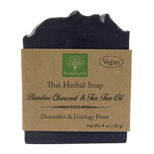 Vegan Handmade Soap – Bamboo Charcoal  Tea Tree Oil for Acne Prone Skin by The Healing Tree