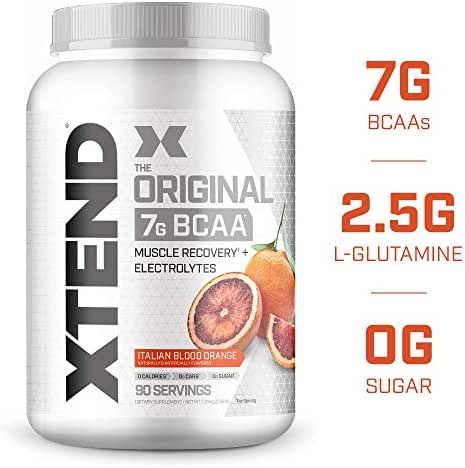 XTEND Original BCAA Powder Italian Blood Orange | Sugar Free Post Workout Muscle Recovery Drink with Amino Acids | 7g BCAAs for Men & Women| 90 Servings