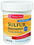 De La Cruz 10% Sulfur Ointment Acne Medication, Allergy-Tested, No Preservatives, Fragrances or Dyes, Made in USA 2.6 OZ.