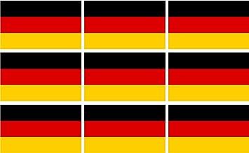 Etaia 2 5x4 Cm Mini Aufkleber Set Fahne Flagge Von Deutschland Kleine Sticker Fürs Auto Motorrad Fahrrad Bike Auto