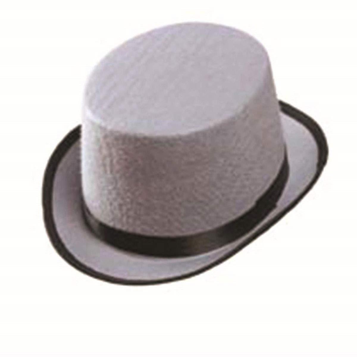 labreeze Kids Boys Grey Willy Wonka Velour Top Hat Unisex Smart Boy Fancy Dress