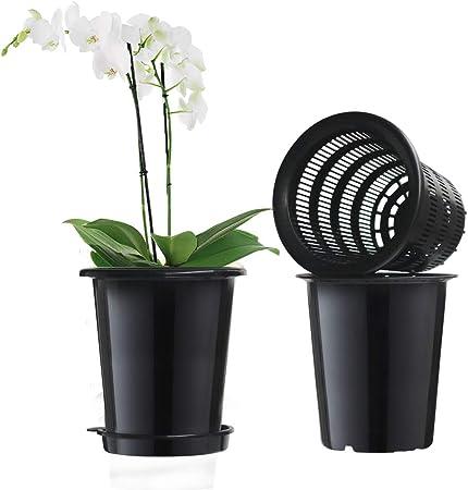 Blumentopf weiß Keramik Topf Umtopf Ø 18cm Übertopf Orchideentopf Dekotopf
