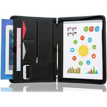 stylio zippered padfolio portfolio binder interview resume document organizer ipad 101 - Resume Holder