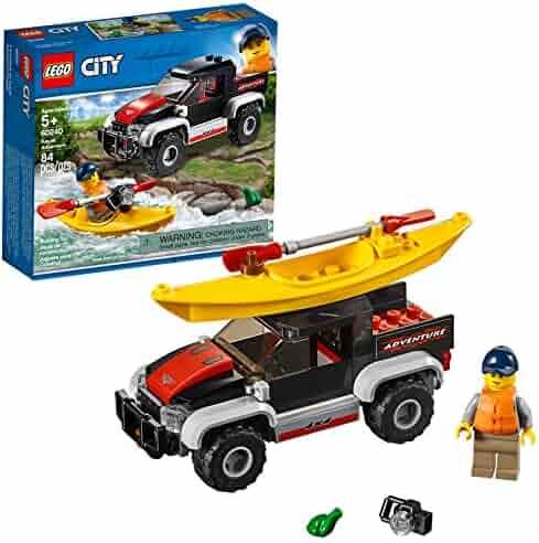 LEGO City Great Vehicles Kayak Adventure 60240 Building Kit , New 2019 (84 Piece)