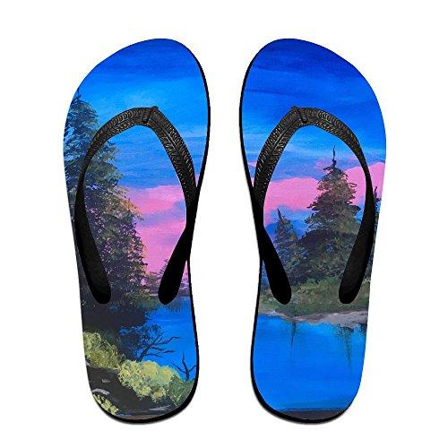 View Men Oil for Kids PTJHKET Flip Slippers Painting Flops Women wTnIU8qUF