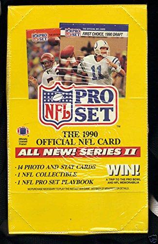 Set Series 2 Football Box - 1990 Pro Set ProSet Football Wax Pack Box series 2 Emmitt Smith Rookie Card RC