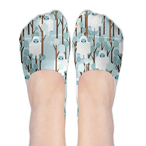 Bigfoot Lost In Forest Women No-Show Casual Liner Socks Low Cut Ankle Socks Boat Socks