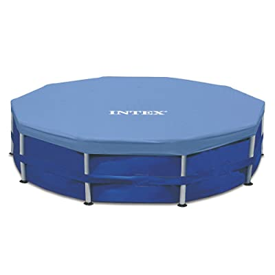 Intex Round Metal Frame Pool Cover, Blue, 15 ft : Swimming Pool Covers : Garden & Outdoor
