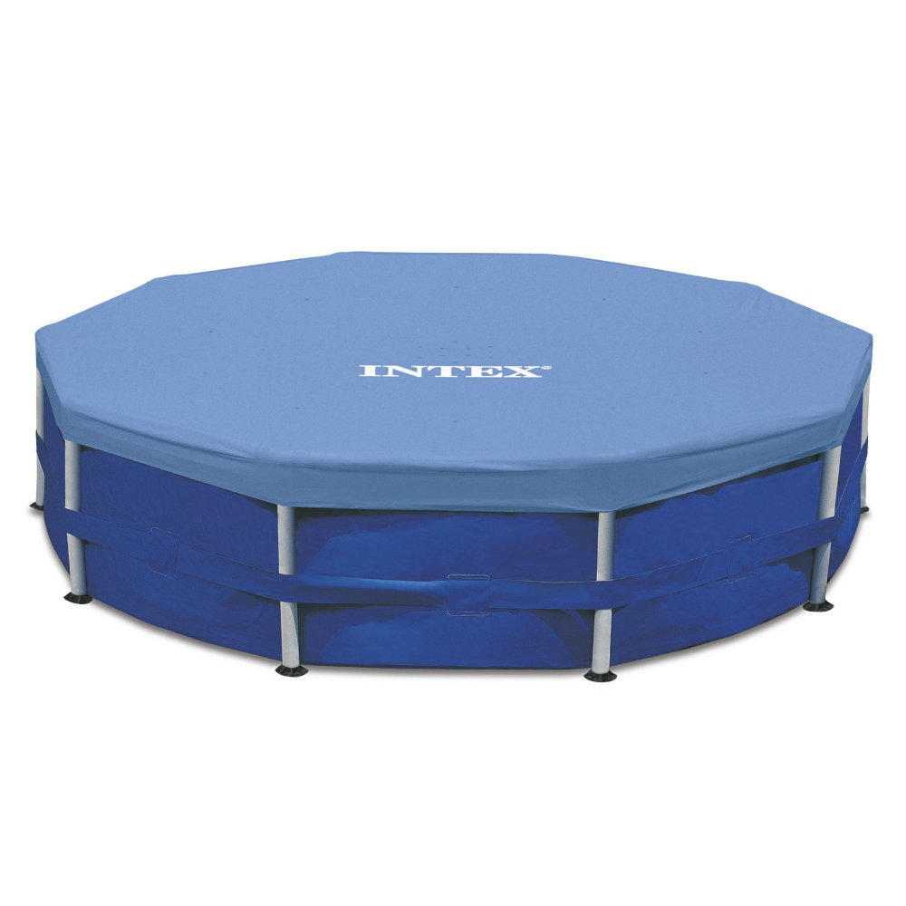 Intex Round Metal Frame Pool Cover, Blue, 15 ft by Intex