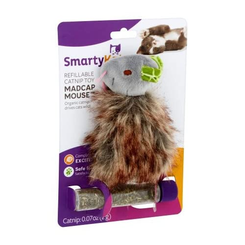 lovely PACK OF 10 - SmartyKat Madcap Mania Refillable Catnip Cat Toy