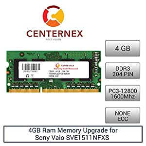 4GB RAM Memory for Sony Vaio SVE1511NFXS (DDR312800) Laptop Memory Upgrade by US Seller