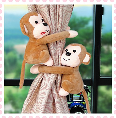 AiFish 2PCS Cute Animal Curtain Tiebacks Curtain Holdbacks Curtain Tieback Buckle Hook Fastener Kid Child Infant Nursery Bedroom Living Room Curtain Tieback