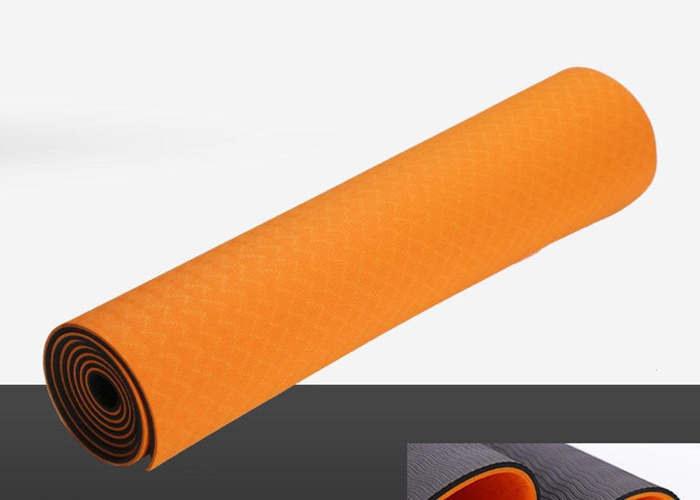 HZJ Orange Natural Eco Gesundheit Und Fitness Comfort Microfiber Optimale Yoga Mat Non Slip FüR Bewegung Und Pilates Damens Safe Workout-Langlebig