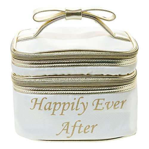 Betsey Johnson 'Happily Ever After' Train Case Cosmetic, Cream