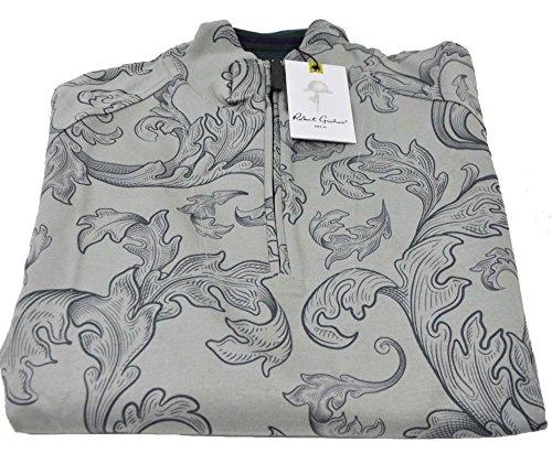 robert-graham-mens-medium-grey-wonderland-long-sleeve-1-4-zip-pullover-sweater