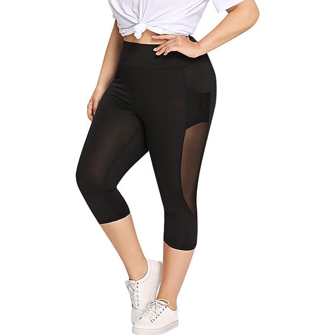 Amyline Mujer Pantalones Yoga, Womens Clásico Negro ...