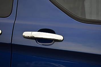 Juego de fundas para manillar de puerta cromado para adaptarse a Transit Custom 5dr (2012