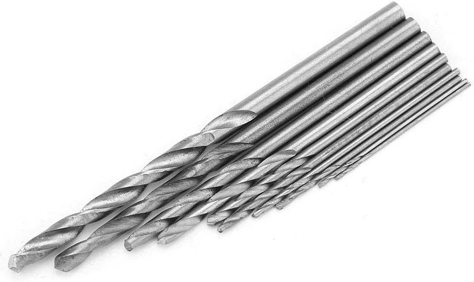 YWBL-WH 10PCS High Speed Steel Drill Bit 0.5-3mm Straight Shank Twist Drill Bits Drilling Tools for Drill Deep Holes