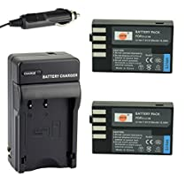 DSTE® 2x D-Li109 Battery + DC112 Travel and Car Charger Adapter for Pentax K-R K-30 K-50 K-500 KR K30 K50 K500 K-S1 K-S2 Camera