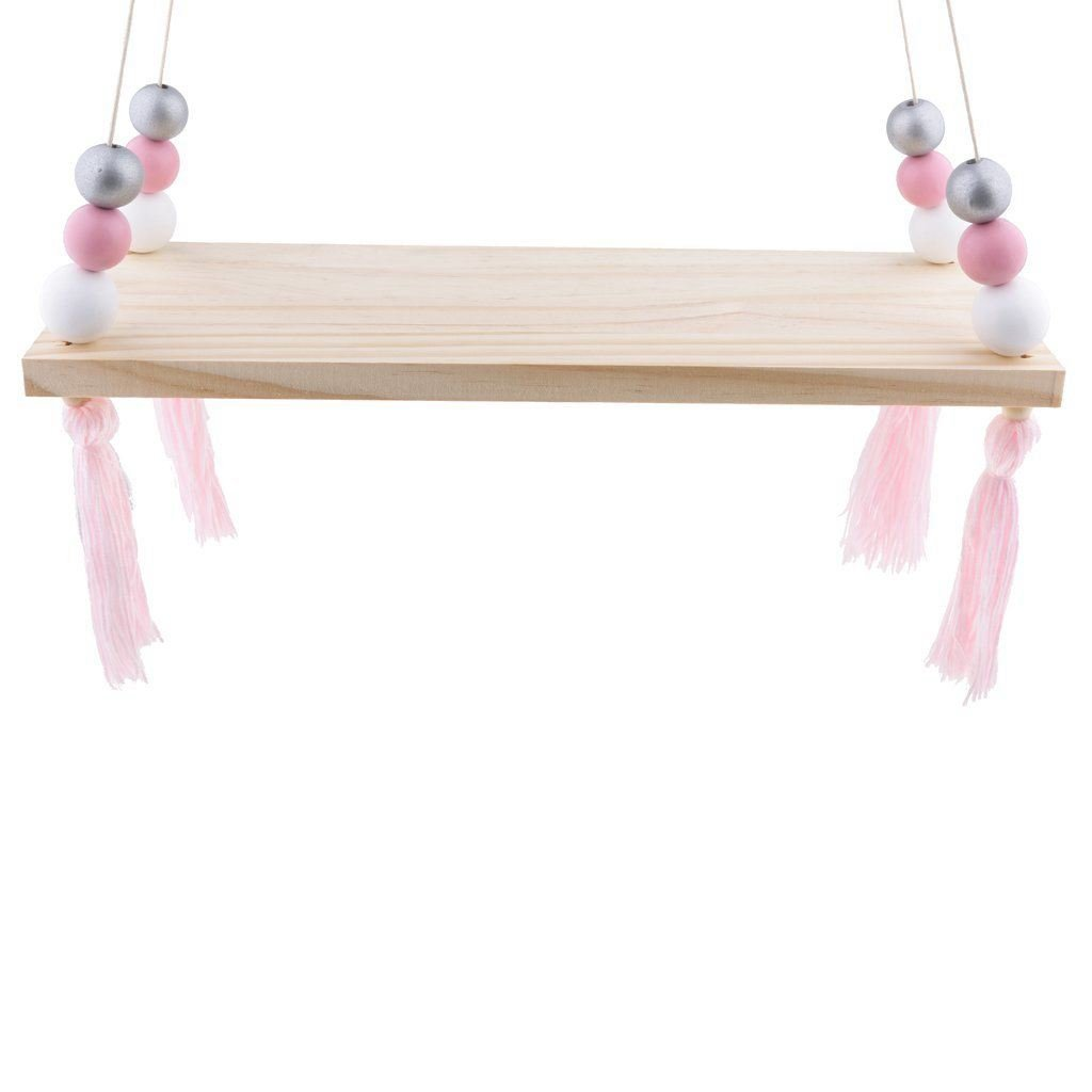 Toogoo Wooden Wall Shelf Hanging Tasl Children Bebe Nordic Style Wall Frame - # 1