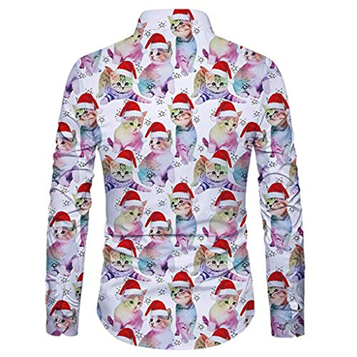 Internet-Camiseta de Manga Larga con Estampado de Santa para Hombre de Explosion M-2XL: Amazon.es: Ropa y accesorios