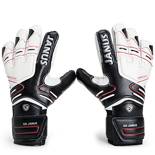 隣接する悪性の添加(5, Black) - Valorsports Professional Fingersave Adult Kid Hand Palm Natural Latex Goalkeeper Gloves JA383