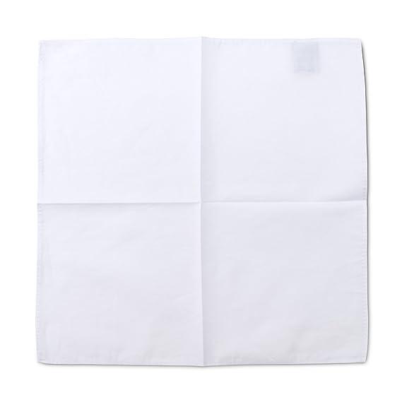 Pañuelo Dapper Cuadrado de Bolsillo Hombre 100% Algodón Fino - Blanco Clásico