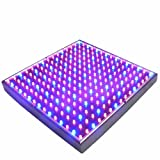 HQRP 14W 225 LED Blue + Red Grow Light Panel for growing Flowers Bonsai, Orchids, Saffrons, Hibiscus + Hanging Kit + UV Meter