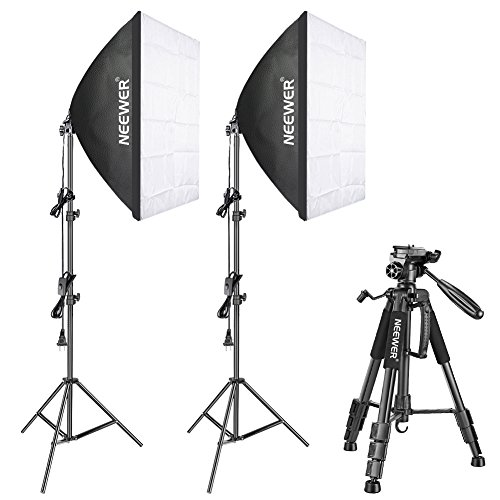 Diffused Light Stand: Neewer 700W 5500K Photography Softbox Lighting Kit With