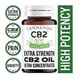 CB2 WELLNESS: EXTRA STRENGTH - Ultra Concentrated CB2 Oil - Conquer Pain & Inflammation / Melts Away Anxiety & Stress / Stronger Than Hemp Oil / Feel Calm & Relaxed / Rejuvenates / Balances Mood / Enhances Sleep / Boost Immune Function / Made in CANADA / 4.2mL