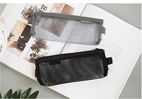Shuxy 3 Pieces Zipper File Bags Organizer Mesh Zipper Pencil