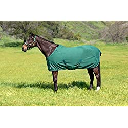 Kensington Products Egyptian Cotton Horse Stable Blanket - Lightweight Durable & Breathable Day Sheets (75, 106- Deluxe Hunter)