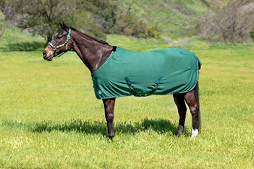 (Kensington Products Egyptian Cotton Horse Stable Blanket - Lightweight Durable & Breathable Day Sheets (75, 106- Deluxe Hunter))