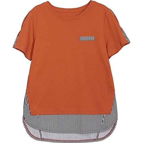 agrume maniche due maniche con a Maglietta a T corte corte bicolore magliette MOMO shirt fAOqwWc1