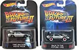 Hot Wheels Retro Entertainment Back to the Future Time Machine Hover Mode & 1955 Version
