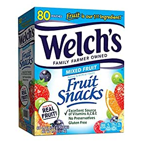 Welch's Fruit Snacks, Mixed Fruit, 80 Count