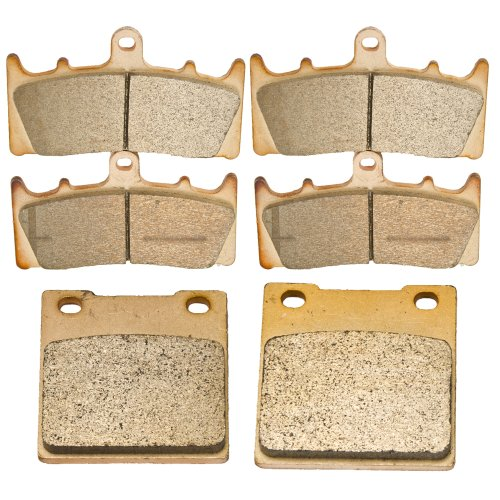 Front and Rear Sintered Brake Pads for Suzuki GSF 1200 Bandit 2001 2002 2003 2004 (1200 Bandit Car)