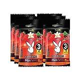 Playboy Condoms MaxSens Passion mix 6 paquetes con 3 condones + 1 gratis c/u