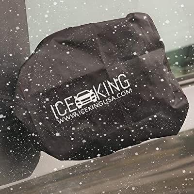 Full Set - 2 IceKing Huge Snow and Ice Mirror Covers Universal Size Fits Cars SUV Truck Van with Advanced Anti Bird Poop Technology: Automotive