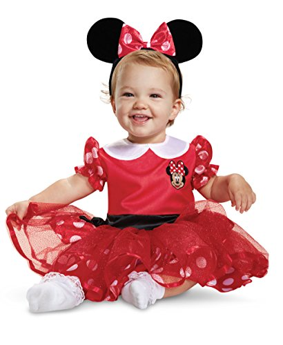 Disguise Red Minnie Mouse Infant Child Costume, Red, (12-18 Months) ()