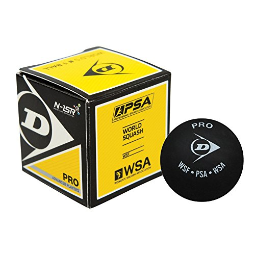 Dunlop Pro - Double Yellow Dot Squash Ball - 3-pack