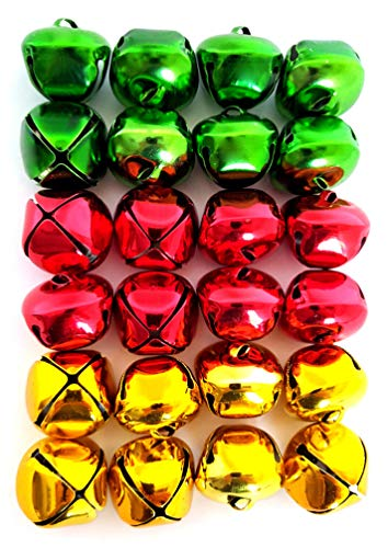 Jingle Bells (24 Piece Pack, Red, Green & Gold)