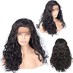 """Ivan Cosmetic 250% Density Synthetic Lace Front Body Wave Kanekalon Fiber High Temperature Resistant Wigs With Baby Hair Pre Plucked Hairline For All Skins Women.(Dark Brown,24"""")"""