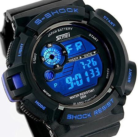 Amazon.com : Relojes de Hombre Sport LED Digital Military Water Resistant Watch Digital Men De Hombre Para Caballero : Everything Else